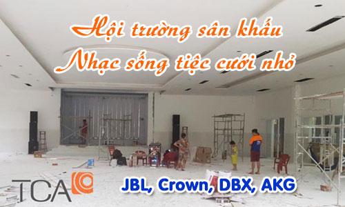 Bộ dàn âm thanh hội trường sân khấu, nhạc sống tiệc cưới nhỏ: JBL, Crown, DBX, AKG