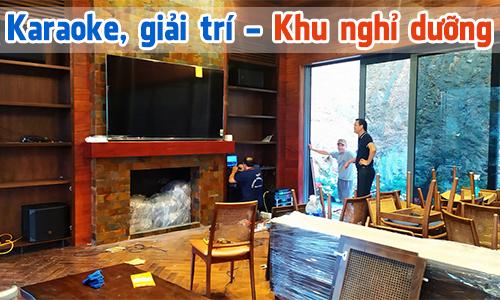 Bộ dàn âm thanh karaoke, giải trí cho Khu nghỉ dưỡng, resort