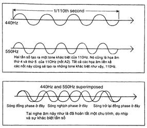 Nhịp và sự khác biệt âm sắc (Beats and Difference Tones)
