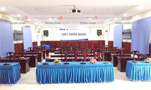 Hệ thống âm thanh hội thảo Bosch CCS-1000 tại VNPT Tuyên Quang
