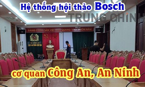 HỆ THỐNG ÂM THANH HỘI THẢO BOSCH CSS900,1000 phòng họp: Cơ quan công an, an ninh