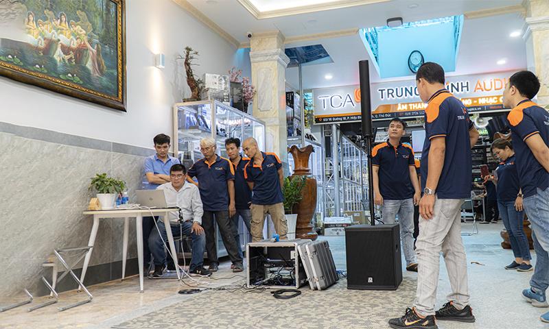 P.Audio giới thiệu sản phẩm thiết bị âm thanh tại TCA Hồ Chí Minh