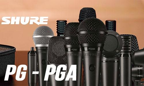 Shure PG-PGA: Micro sân khấu, hội trường, karaoke