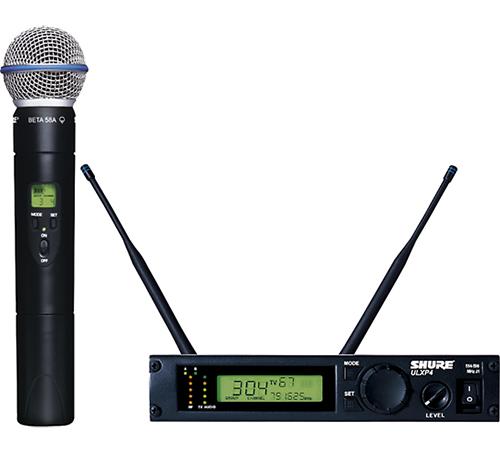 Bộ thu và phát kèm micro không dây cầm tay Shure ULXP24/Beta 58