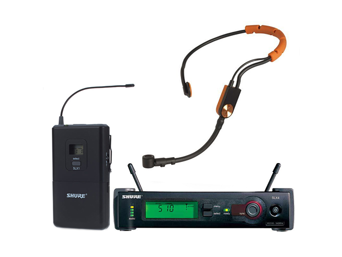 Shure SLX14A/SM31FH : Bộ thu và phát kèm micro cài đầu
