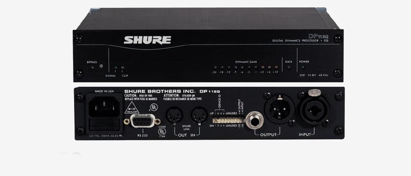 Shure DP11EQE : Bộ xử lý điện động kỹ thuật số