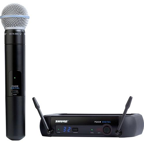 Shure PGXD24/BETA58A : Bộ thu và phát kèm micro không dây cầm tay