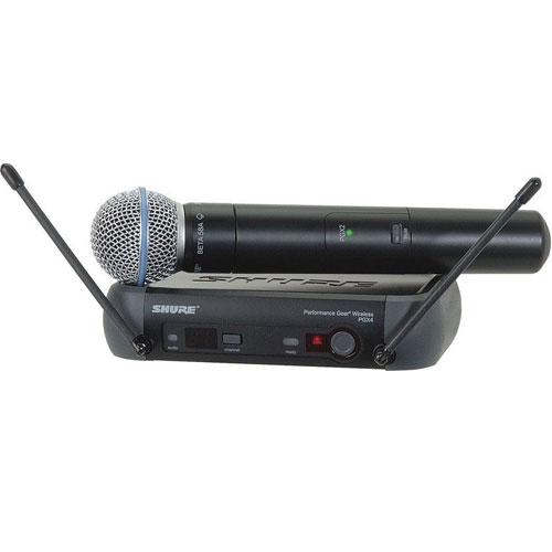 Bộ thu và micro không dây cầm tay Shure PGX24/Beta58A