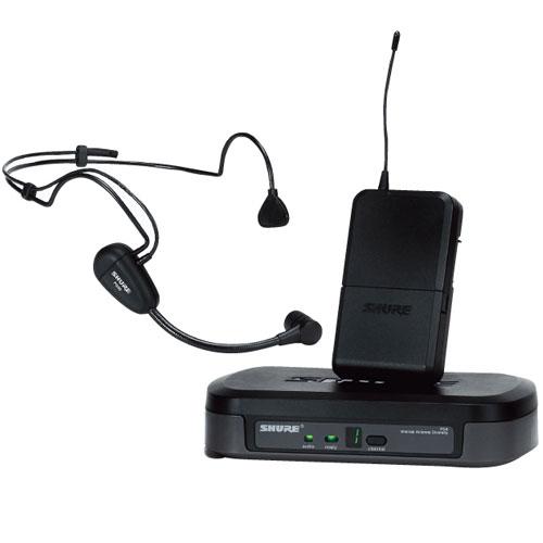 Bộ thu và phát cầm tay kèm micro không dây cài đầu Shure PG14/PG30