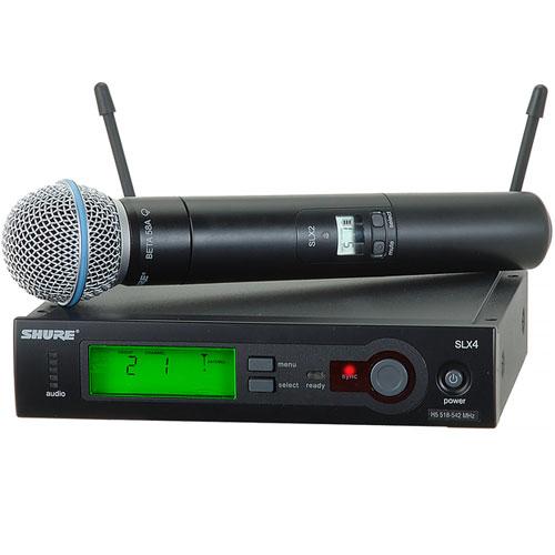 Bộ thu và phát kèm micro không dây cầm tay Shure SLX24/Beta58