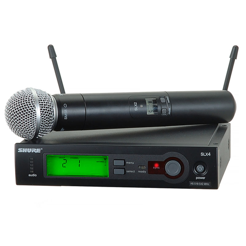 Bộ thu và phát kèm micro không dây cầm tay Shure SLX24/SM58