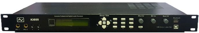 Bộ xử lý tín hiệu âm thanh số AV KI600: Vang số DSP, lọc xì EQ