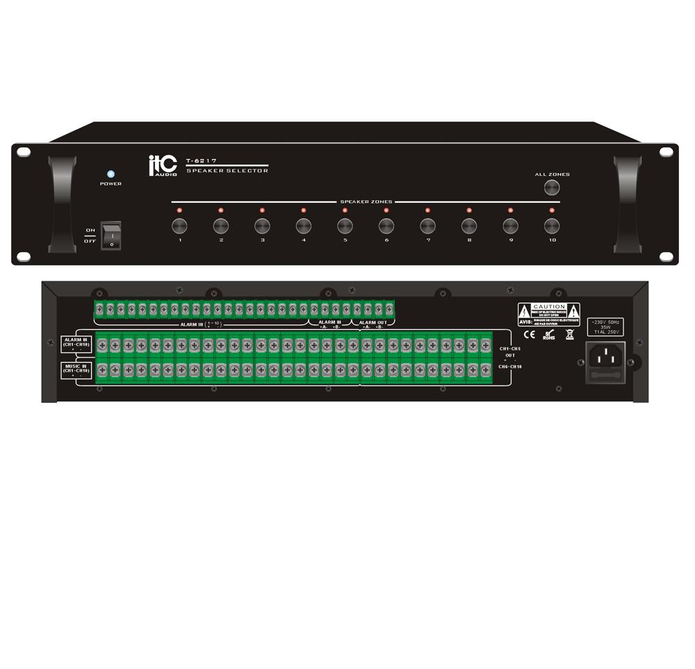 Bộ điều khiển chọn 10 vùng( zone) ITC T-6217