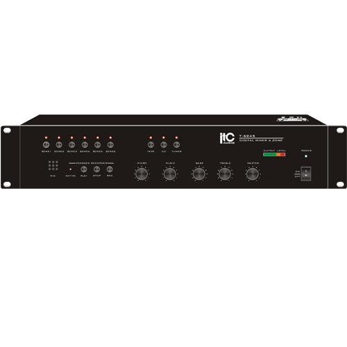 Bộ trộn âm 6 vùng với máy ghi âm ITC T-6245