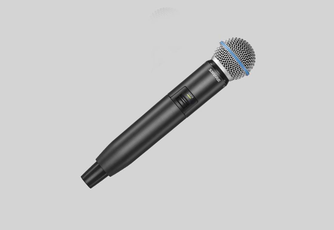 Shure GLXD24/B58 : Bộ thu kỹ thuật số  và bộ phát kèm micro không dây cầm tay