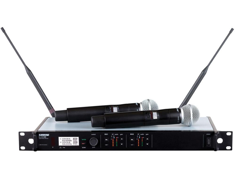 Bộ thu và phát đôi kèm micro không dây cầm tay Shure ULXD24D/SM58