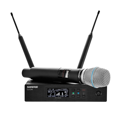 Shure QLXD24A/B87 : Bộ phát kèm micro không dây cầm tay