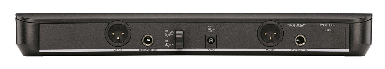 Shure BLX1288A/PG85 : Bộ thu và phát đôi kèm micro không dây cầm tay và cài áo