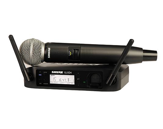 Shure GLXD24/SM58 : Bộ thu kỹ thuật số và bộ phát kèm micro không dây cầm tay