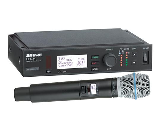 Shure ULXD24/B87C : Bộ thu kỹ thuật số và bộ phát đôi kèm micro không dây cầm tay