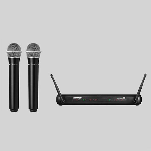Shure SVX 288E/PG28 : Bộ thu và 2 bộ phát kèm micro không dây cầm tay