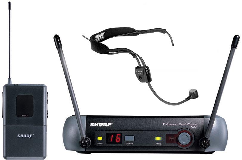 Shure PGX14E/WH20 : Bộ thu và phát kèm micro cài đầu