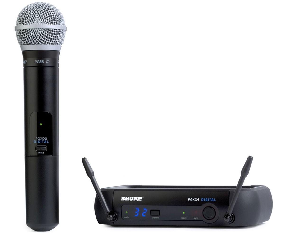 Shure PGX24E/PG58 : Bộ thu và phát kèm micro không dây cầm tay