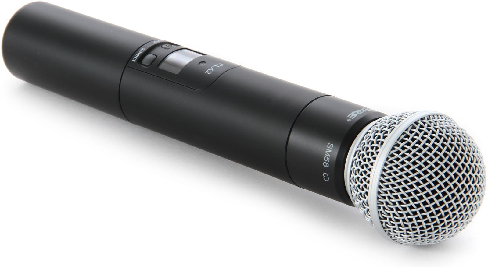 Shure SLX2/SM58 : Bộ phát kèm micro không dây cầm tay