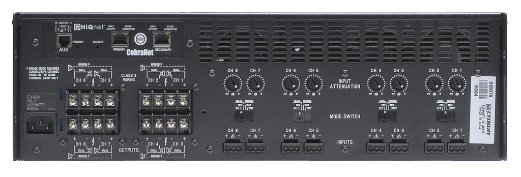 Crown CTs 8200A : Bộ khuếch đại công suất 8 kênh