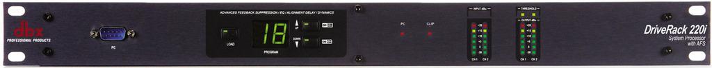 DBX DriveRack 220i : Bộ xử lý hệ thống