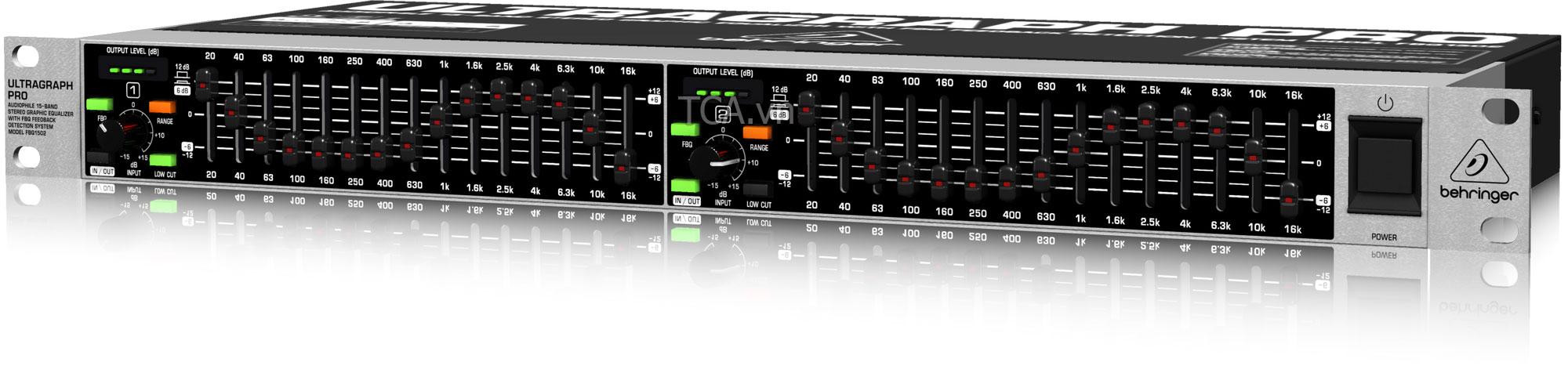 behringer FBQ1502 : Equalizer with FBQ Feedback Ultragraph Pro