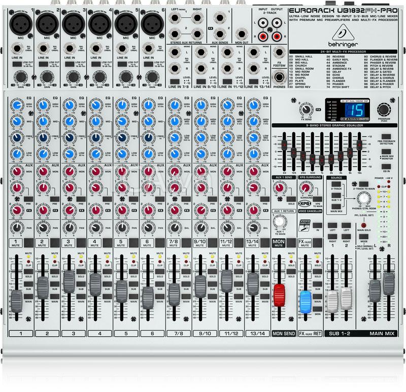Mixer Behringer UB1832FX-PRO