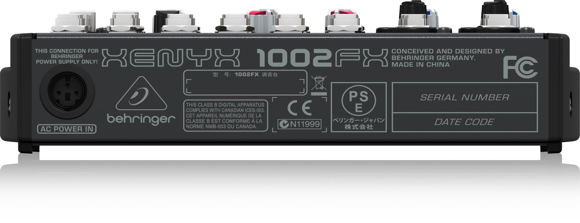 Mixer Behringer 1002FX