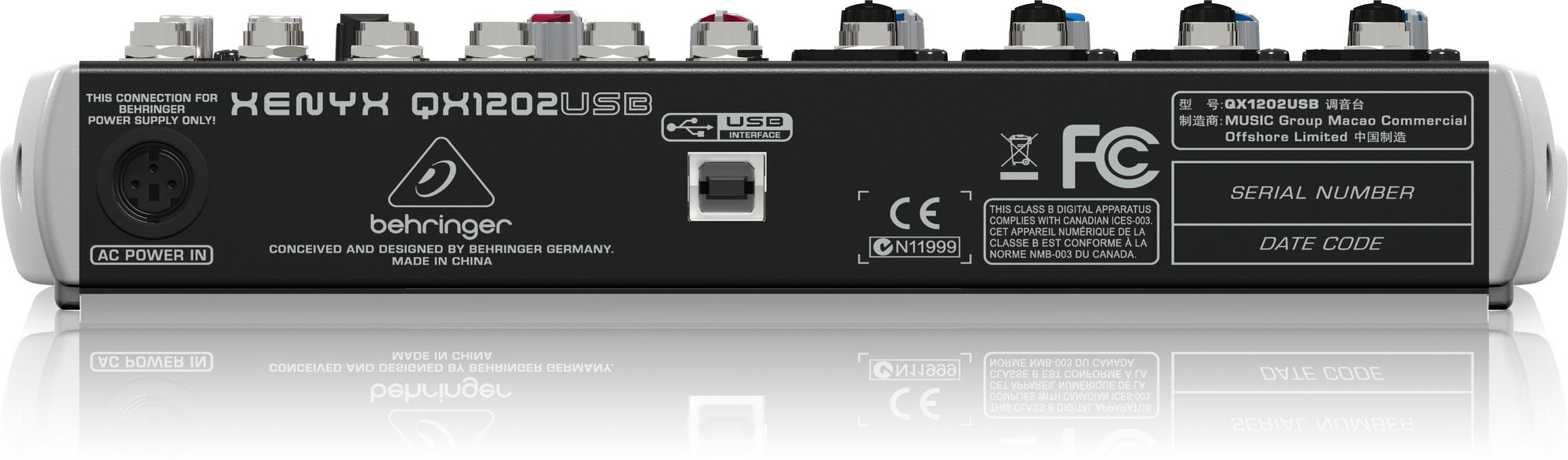 Mixer Behringer QX1202USB