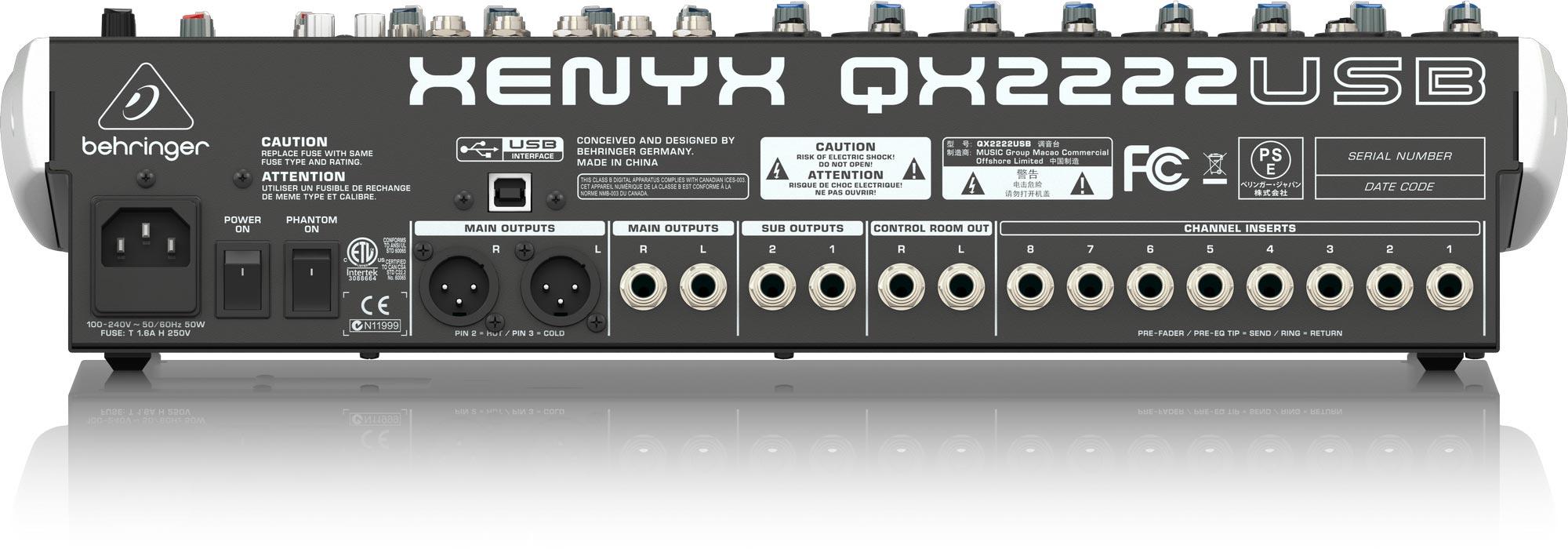 Mixer Behringer XENYX QX2222USB