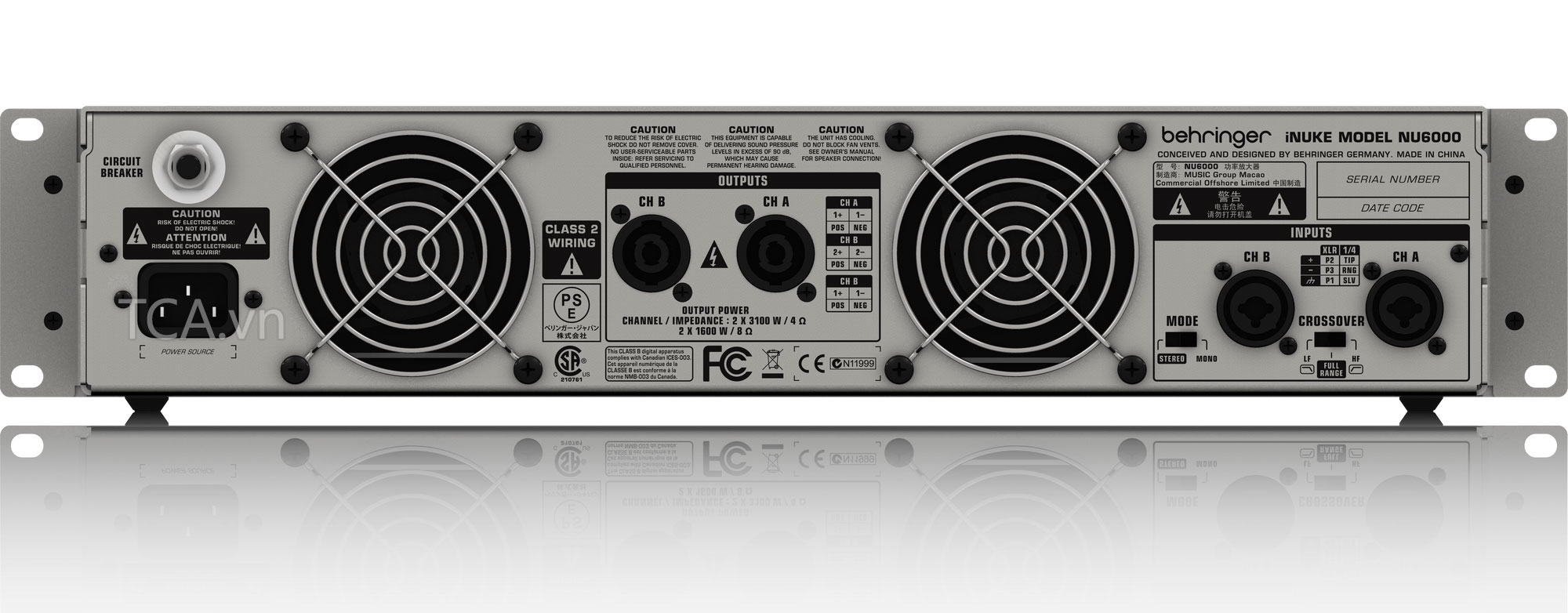 Power Amplifier BEHRINGER iNUKE NU6000