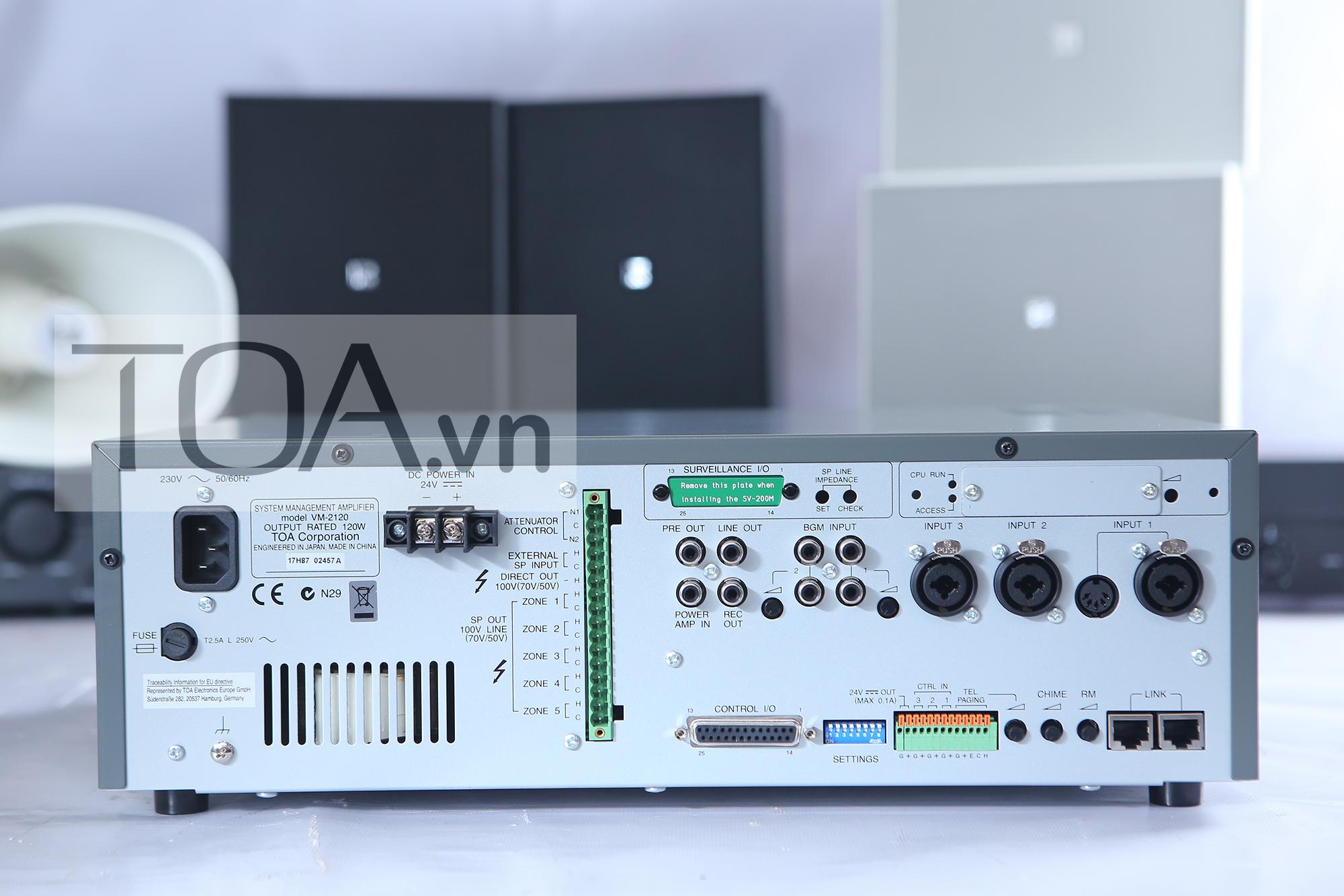 TĂNG ÂM TRUYỀN THANH 120W TOA VM-2120