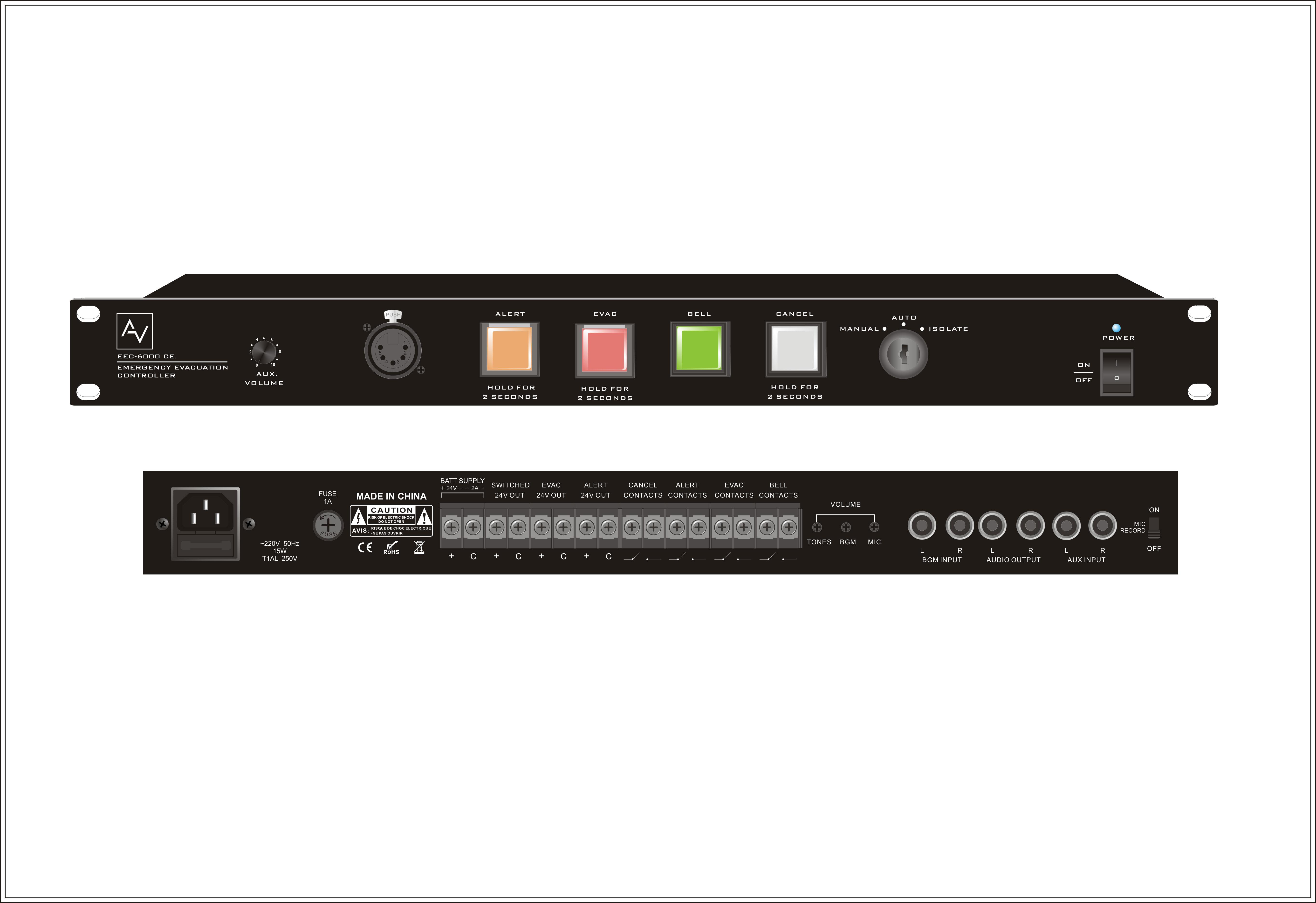 Bộ điều khiển sơ tán khẩn cấp AV EEC-6000 CE