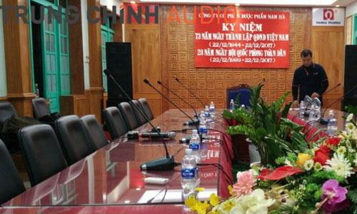 Âm thanh phòng họp: Hệ thống hội thảo, hội nghị cho công ty dược phẩm Nam Hà