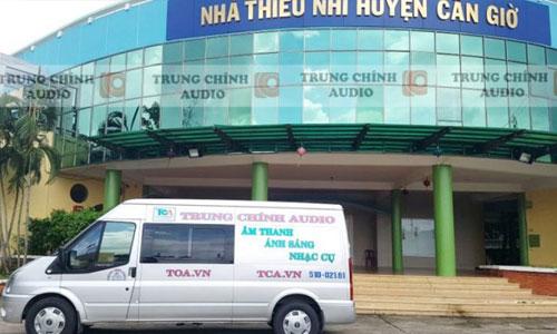 ÂM THANH SÂN KHẤU HỘI TRƯỜNG chuyên nghiệp: nhà thiếu nhi huyện Cần Giờ
