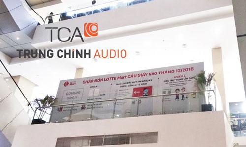 Hệ thống âm thanh thông báo trung tâm thương mại, siêu thị Lotte Mart Cầu Giấy Hà Nội