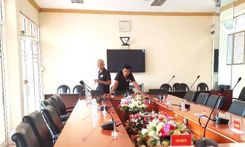Hệ thống hội thảo TOA TS-680 âm thanh phòng họp: Quân khu K690, Hồ Chính Minh