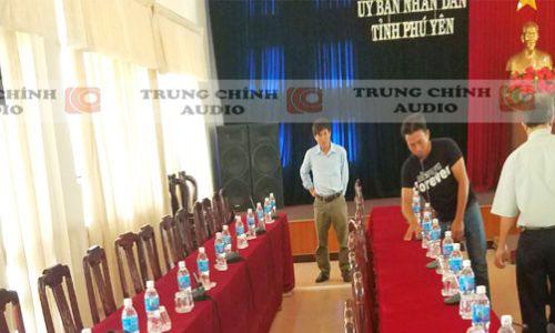 Hệ thống âm thanh hội thảo JTS và TOA: phòng họp UBND tỉnh Phú Yên