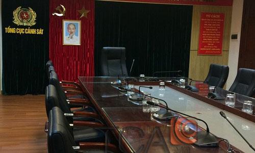 Hệ thống hội nghị BOSCH CCS 1000- hội thảo, phòng họp: tổng cục cảnh sát