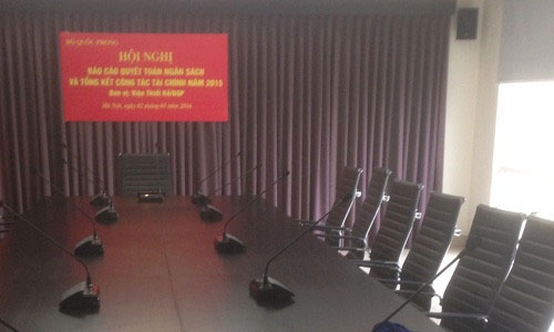 Âm thanh hội thảo, hội nghị: Phòng họp Viện Thiết Kế Bộ Quốc Phòng