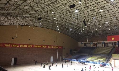 Âm thanh nhà thi đấu THANH TRÌ - hệ thống âm thanh sân vận động