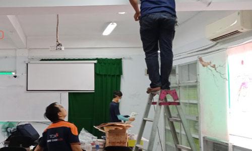 Âm thanh phòng học, lớp học giảng đường trường đại học huflit HCM