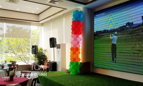 âm thanh sân khấu hội trường: nhà hàng Golf Thủ Đức,HCM