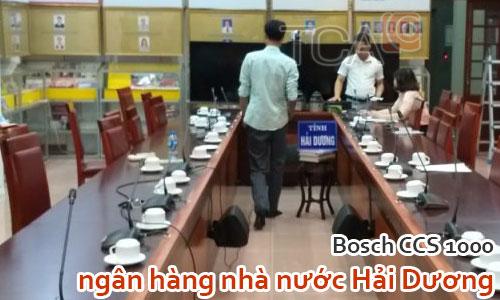 Âm thanh phòng họp ngân hàng nhà nước Hải Dương: Bosch CCS1000 hội thảo, hội nghị
