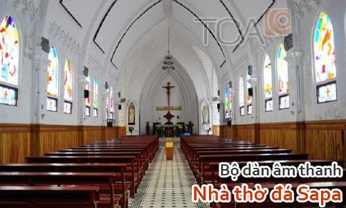 Bộ dàn âm thanh Nhà thờ đá Sapa, Lào Cai: âm thanh hội trường sân khấu